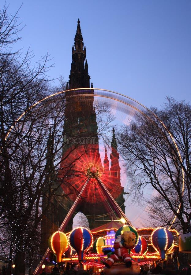 Download Navidad Edimburgo foto de archivo. Imagen de scott, monumento - 7289092