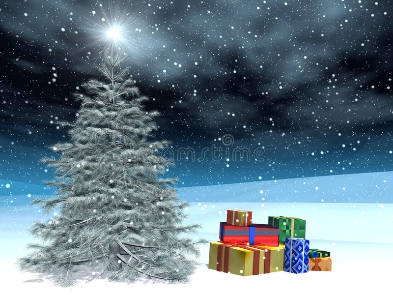 Navidad post-card01 libre illustration