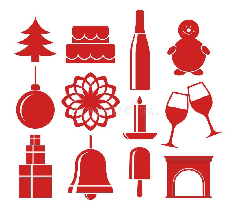 Navidad Sistema del icono ilustración del vector