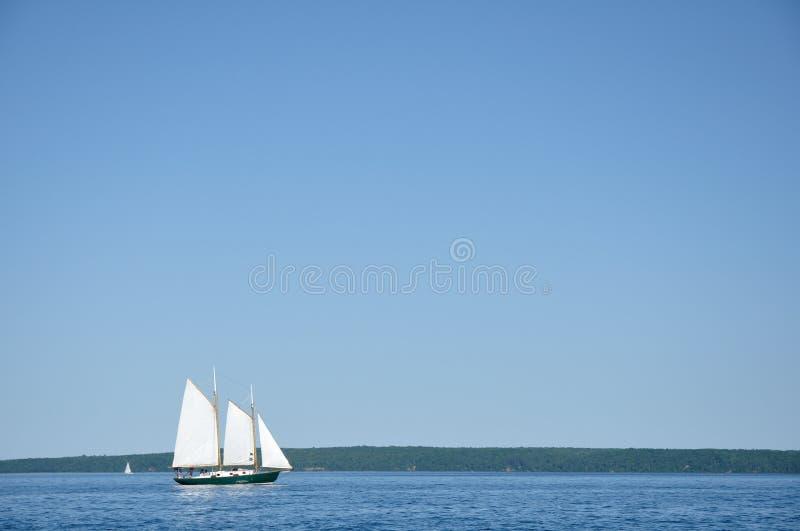 Navigação do Sailboat do Schooner fotos de stock royalty free