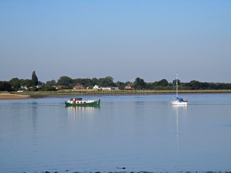 Navigação no rio calmo Colne foto de stock royalty free