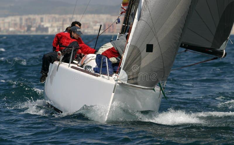 Navigando, #7 yachting fotografia stock