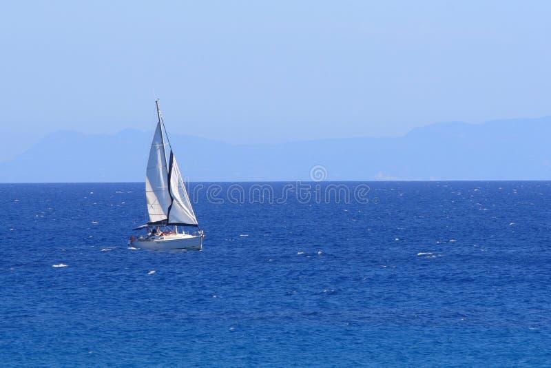 Navigando in Grecia fotografia stock libera da diritti
