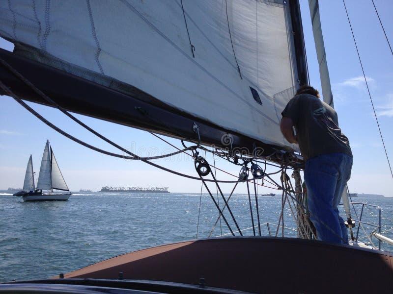 Navigando a Long Beach California fotografia stock libera da diritti
