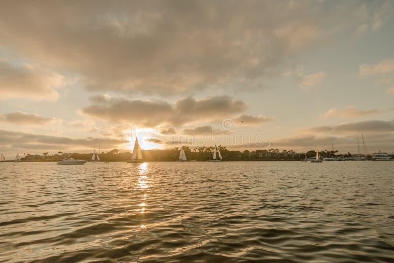 Navigando a Marina Del Rey, California fotografia stock