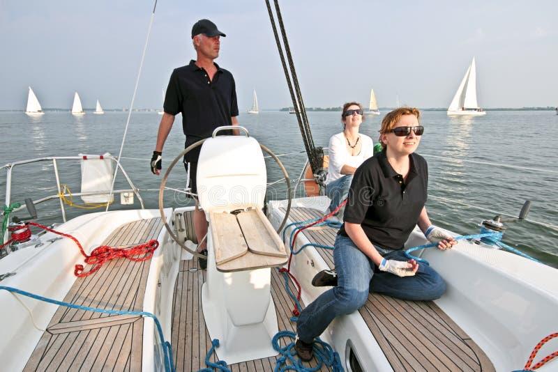 Navigando sul IJsselmeer nei Paesi Bassi fotografia stock libera da diritti