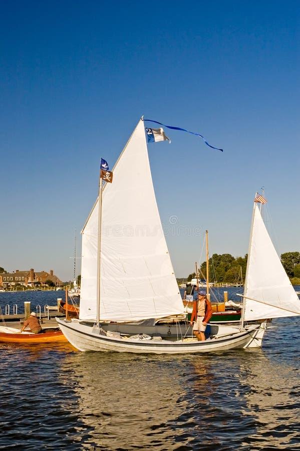 Navigando sulla baia di Chesapeake fotografia stock