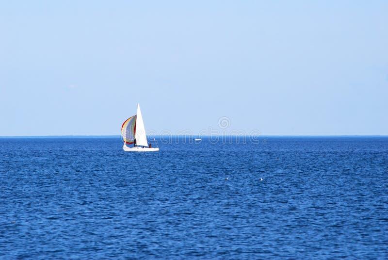 Navigando sulla grande acqua fotografia stock