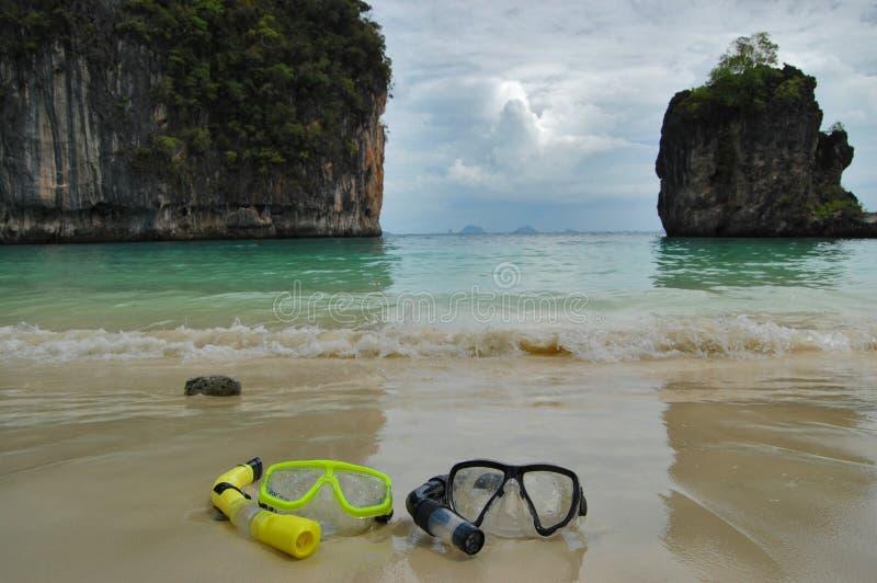 Navigando usando una presa d'aria in Tailandia immagine stock
