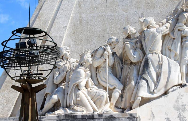 navigatör för jordklothenrylisboa monument arkivbild