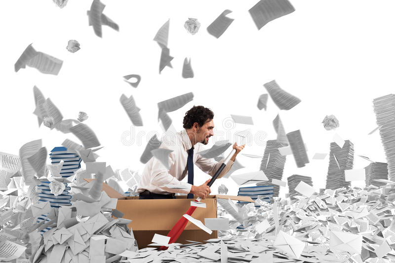 Navigate the bureaucracy royalty free stock images
