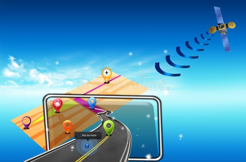 Navigateur de GPS de route images stock