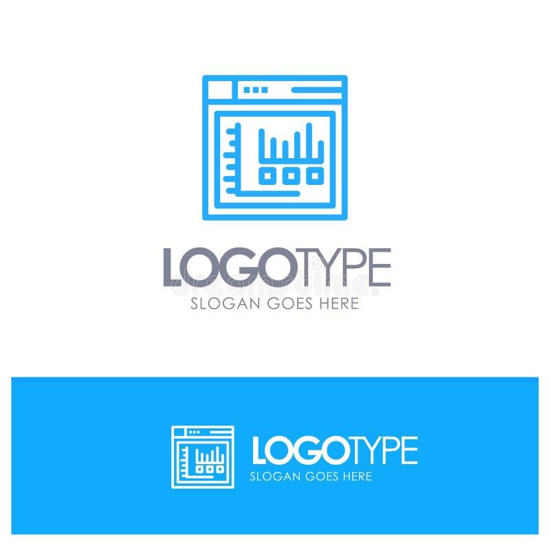 Navigateur, Internet, Web, Logo Line Style bleu statique illustration de vecteur