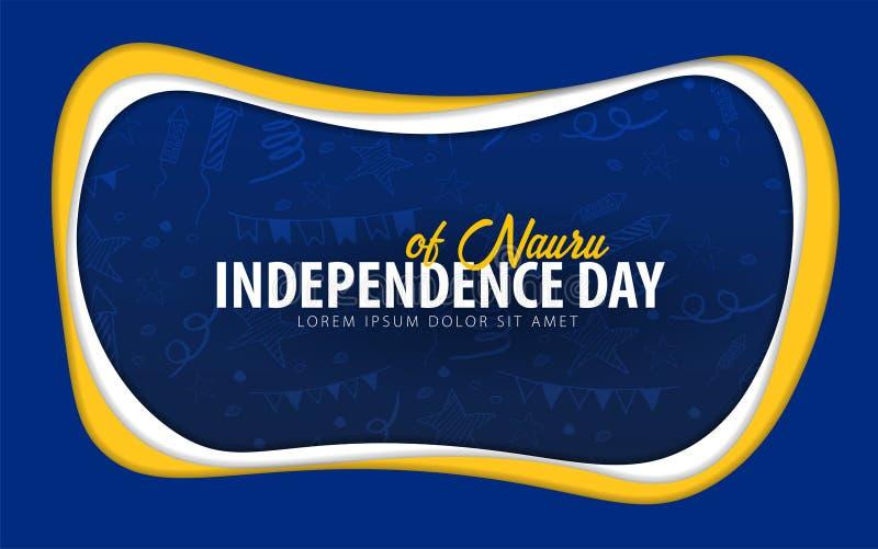 navigatie De groetkaart van de onafhankelijkheidsdag het document sneed stijl vector illustratie