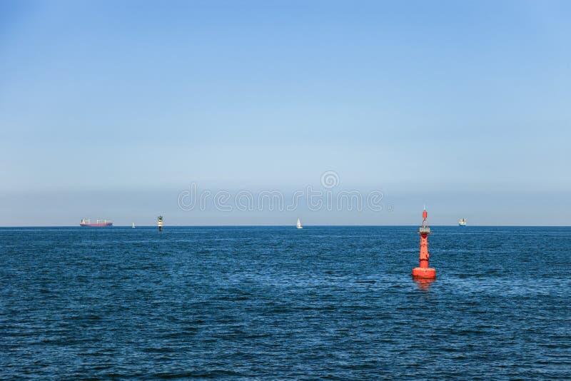 Navigatie op zee stock afbeelding