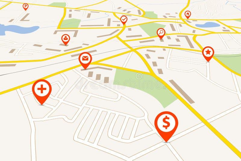 Navigatiekaart vector illustratie