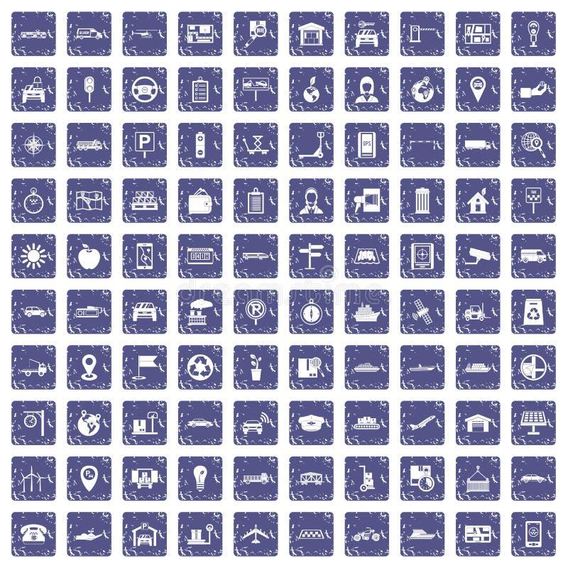 Download 100 Navigatiepictogrammen Geplaatst Grunge Saffier Vector Illustratie - Illustratie bestaande uit milieu, nearsighted: 107709107