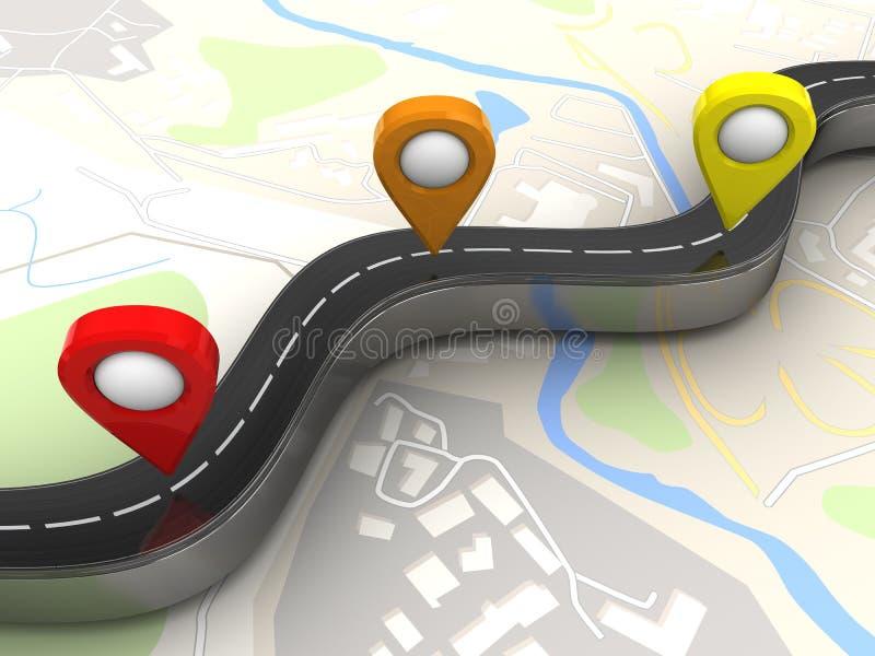 Navigatiepunten royalty-vrije illustratie
