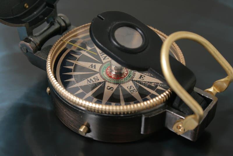 Download Navigating compass stock image. Image of chrome, measurement - 7175055