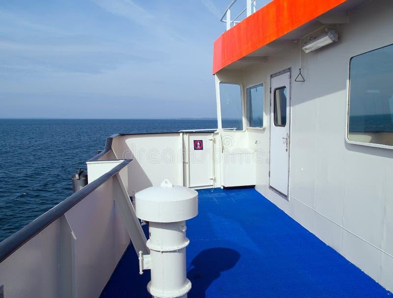 Navigation à bord d'un ferry-boat image libre de droits