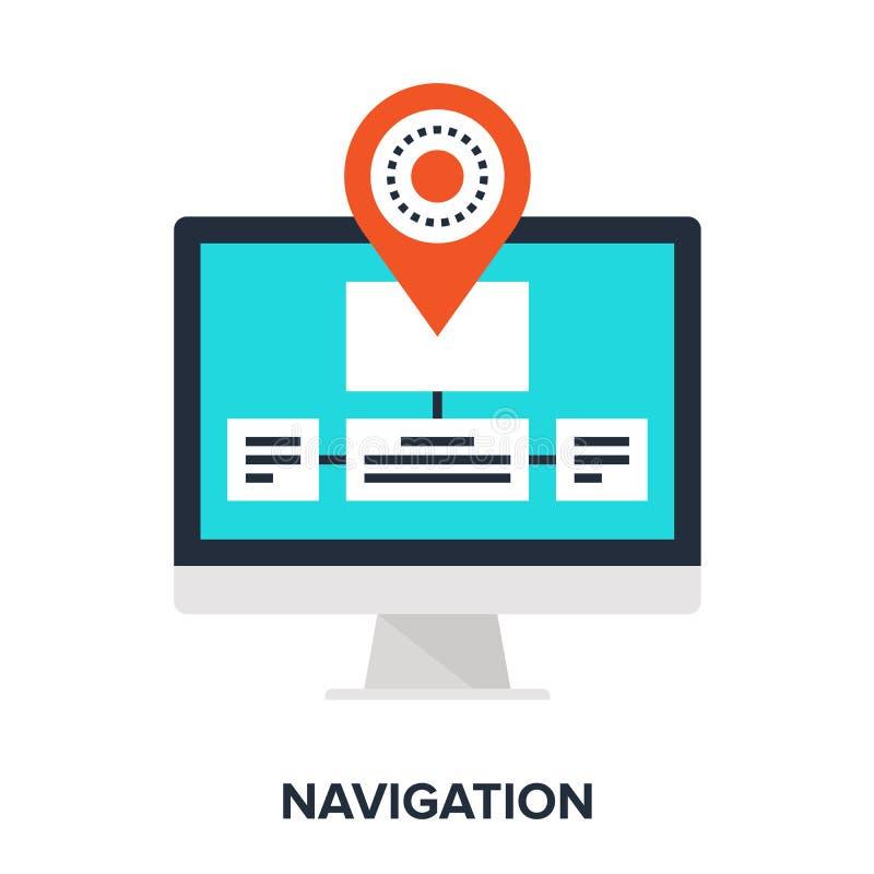 Navigation. Abstract vector illustration of navigation flat design concept royalty free illustration