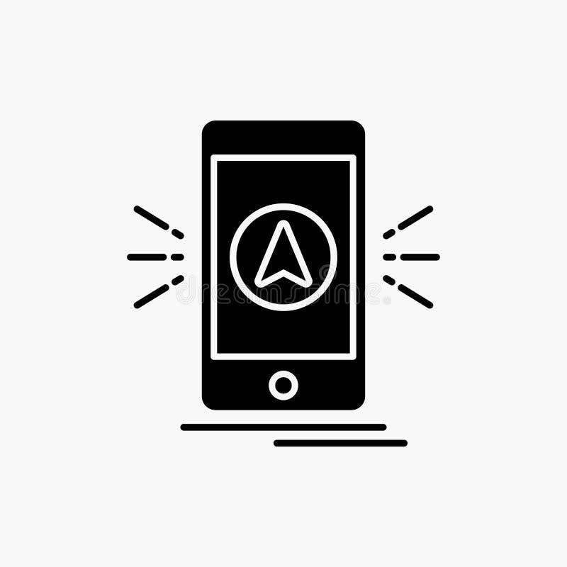 Navigation, App, kampierend, gps, Standort Glyph-Ikone Vektor lokalisierte Illustration vektor abbildung