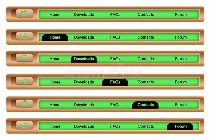 Navigation bar. An illustration for a wood navigation bar vector illustration