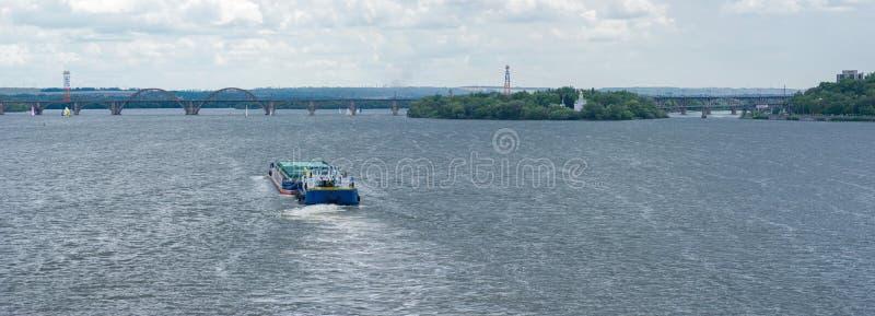 Navigation on a big Ukranian river Dnepr
