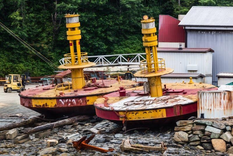 Navigation Buoys stock images