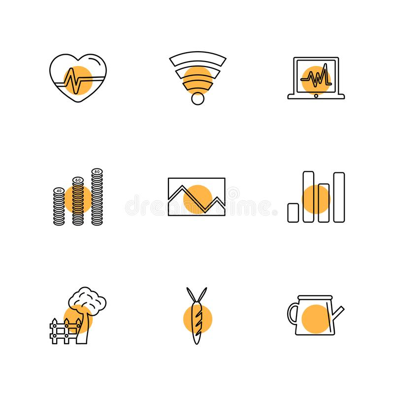 Navigation , connectivity , network , graph , eps icons set vector. Navigation , connectivity , network , graph , wifi , internet , ecg , chart , cloud , icon stock illustration
