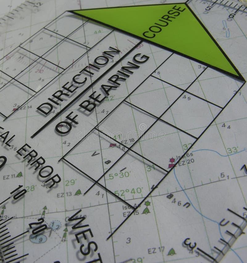 Navigation course stock photo