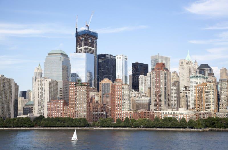 Navigation dans le Lower Manhattan photographie stock