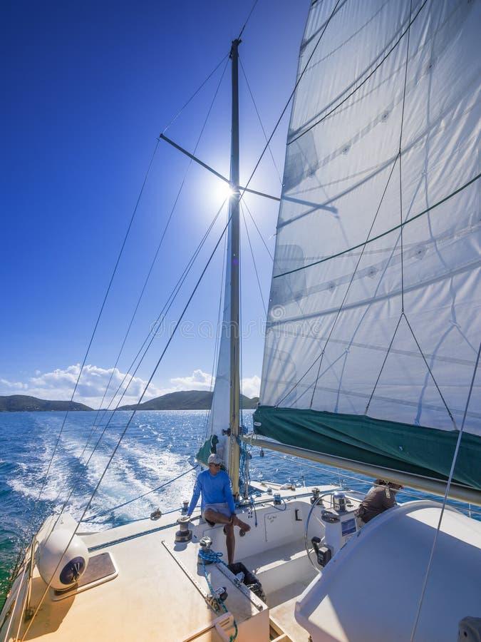 Navigation dans les Caraïbe photographie stock