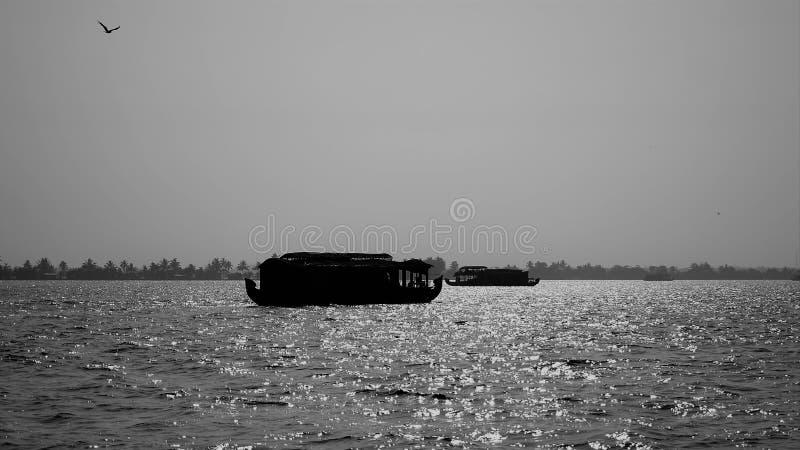 Navigation dans les mares du Kerala photos libres de droits
