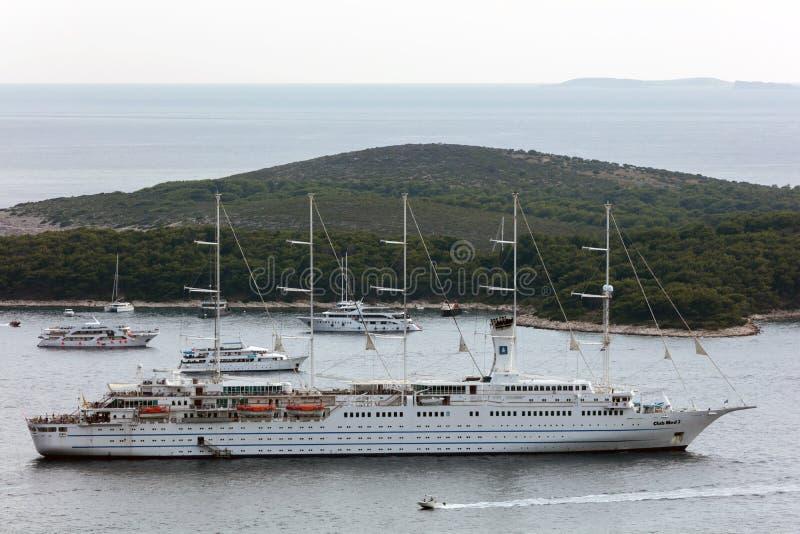 Navigation de Club Med 2 en Dalmatie photo stock
