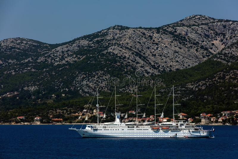 Navigation de Club Med 2 en Dalmatie photos libres de droits