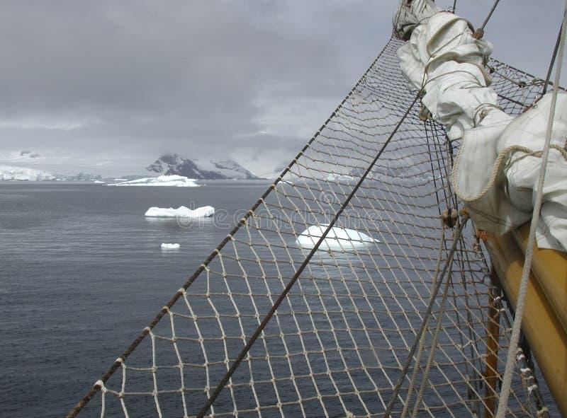 Navigation de l'Antarctique photo libre de droits