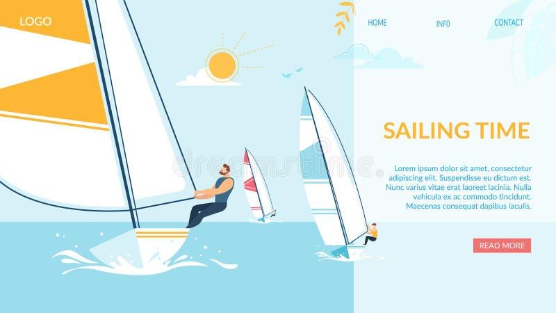 Navigation de la bannière de temps, Team Struggle Regatta Ship illustration de vecteur