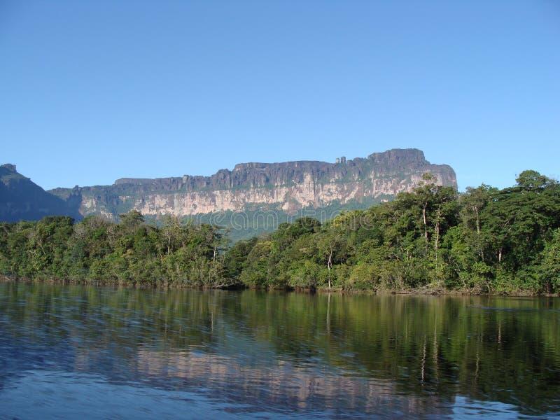 Navigation de la rivière en Amazone vénézuélienne images libres de droits