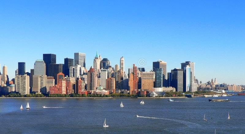 Navigation de Lower Manhattan photos stock