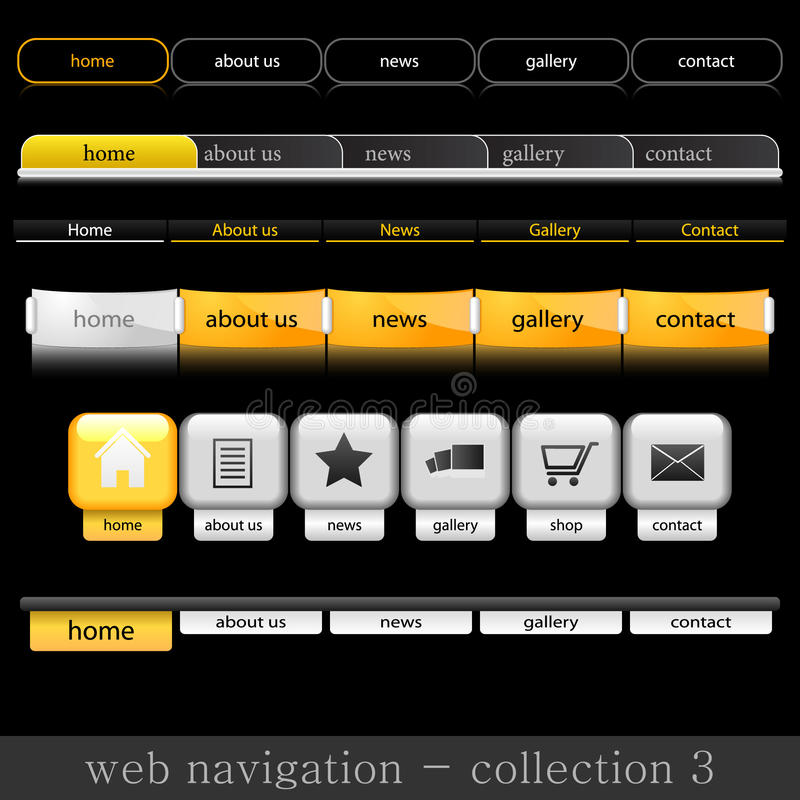 Navigation de Web illustration libre de droits