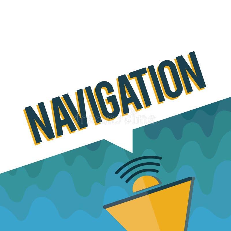 Navigation des textes d'écriture La Science de signification de concept de l'obtention embarque le vaisseau spatial d'avions d'un illustration de vecteur
