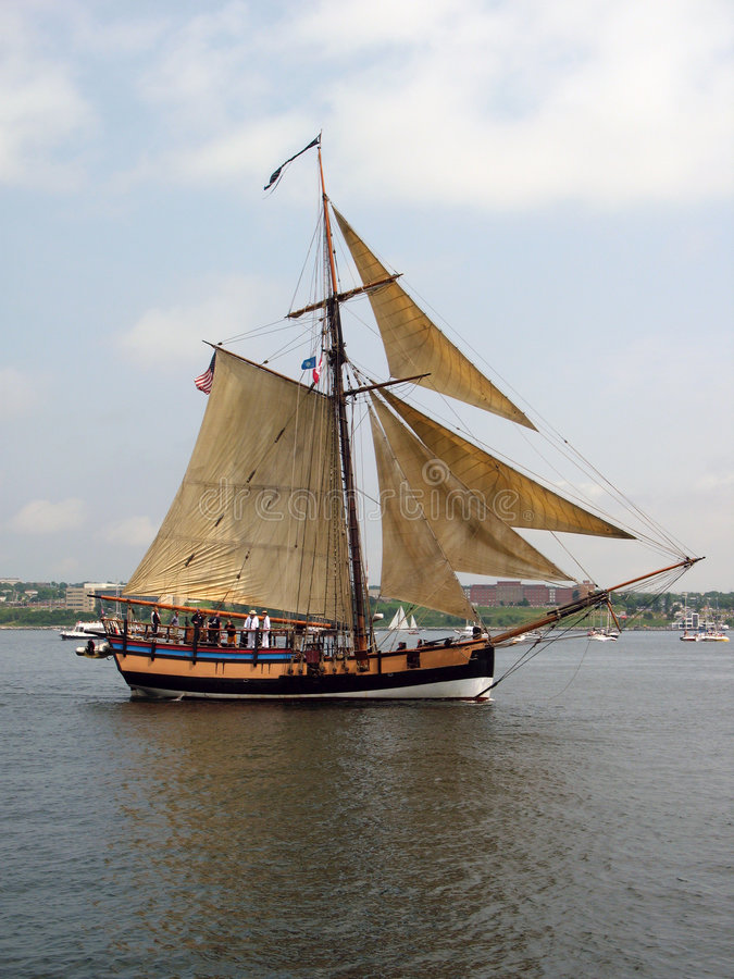 Navigation du bateau grand images libres de droits