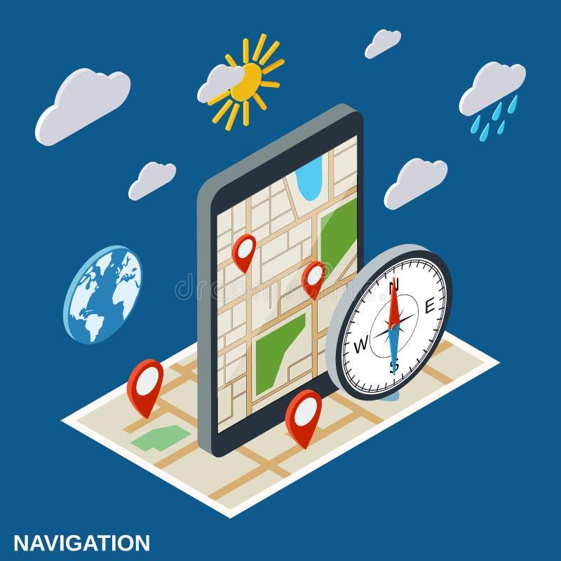 Navigation flat isometric vector concept vector illustration