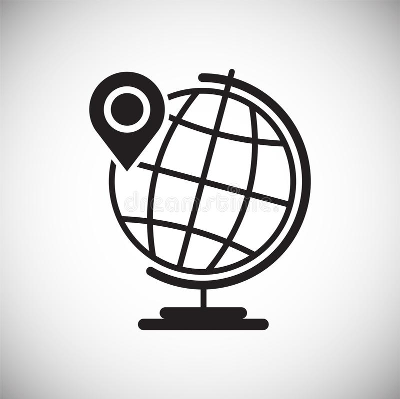 Navigation global positioning system icon on white background for graphic and web design, Modern simple vector sign. Internet. Concept. Trendy symbol for vector illustration