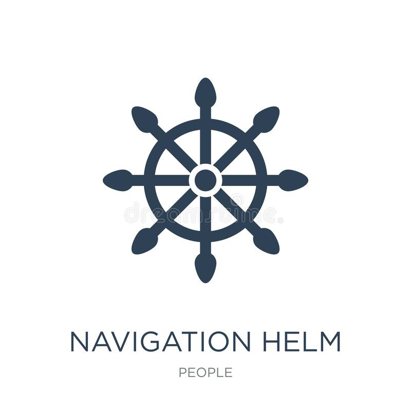Navigation helm icon in trendy design style. navigation helm icon isolated on white background. navigation helm vector icon simple. And modern flat symbol for stock illustration