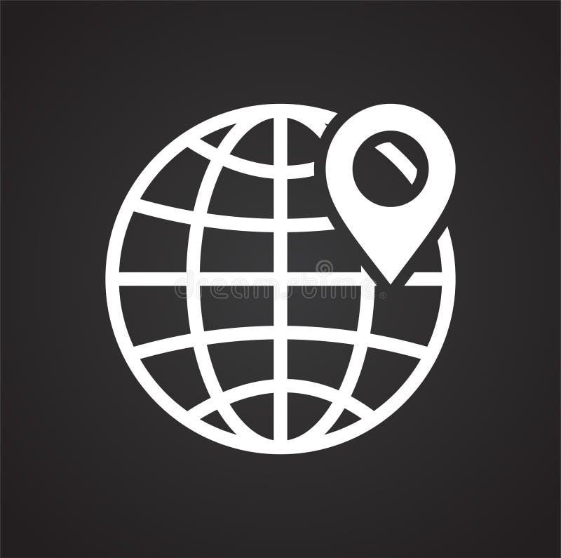 Navigation icon on black background for graphic and web design, Modern simple vector sign. Internet concept. Trendy symbol for. Website design web button or vector illustration