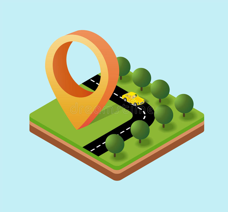Navigation icon stock illustration