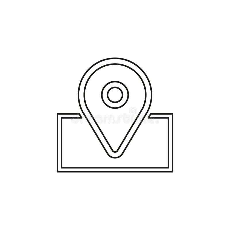 Navigation icon - vector map marker icon. Location pin - gps symbol. Thin line pictogram - outline editable stroke vector illustration