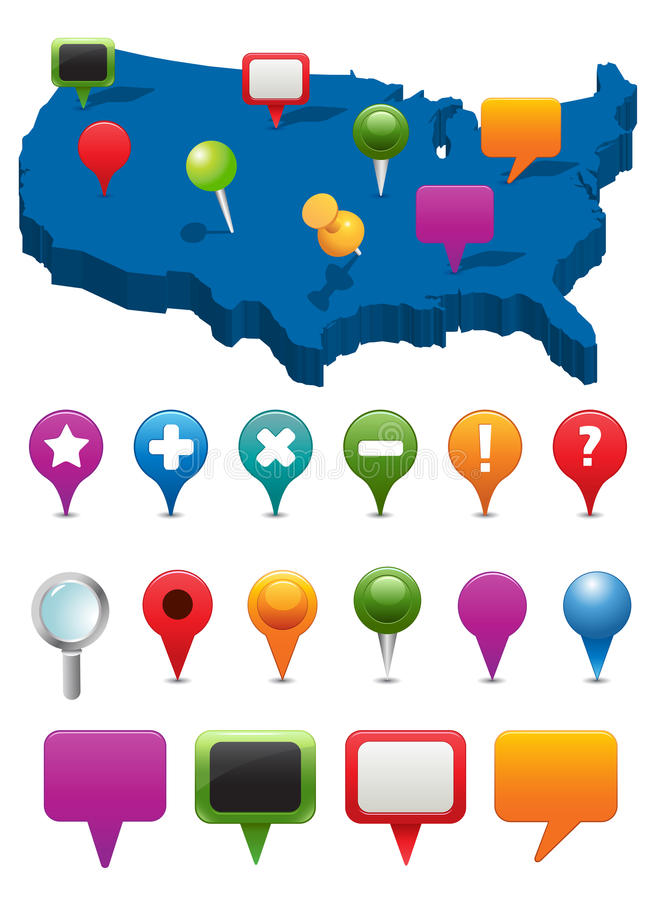 Download Navigation Icons stock vector. Image of globe, local - 15008379